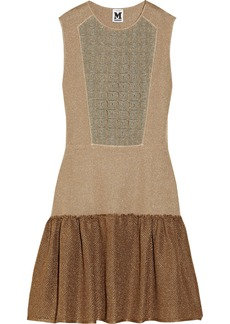 M Missoni Metallic textured-knit dress