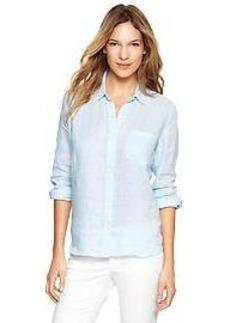 Fitted boyfriend linen shirt