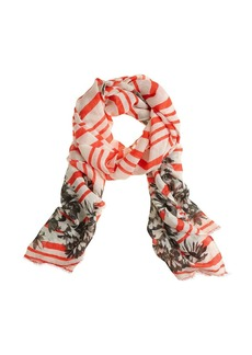 Photo floral stripe scarf
