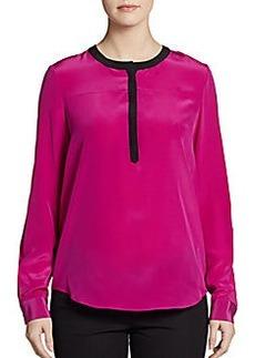 Diane von Furstenberg Maisy Silk Colorblock Top
