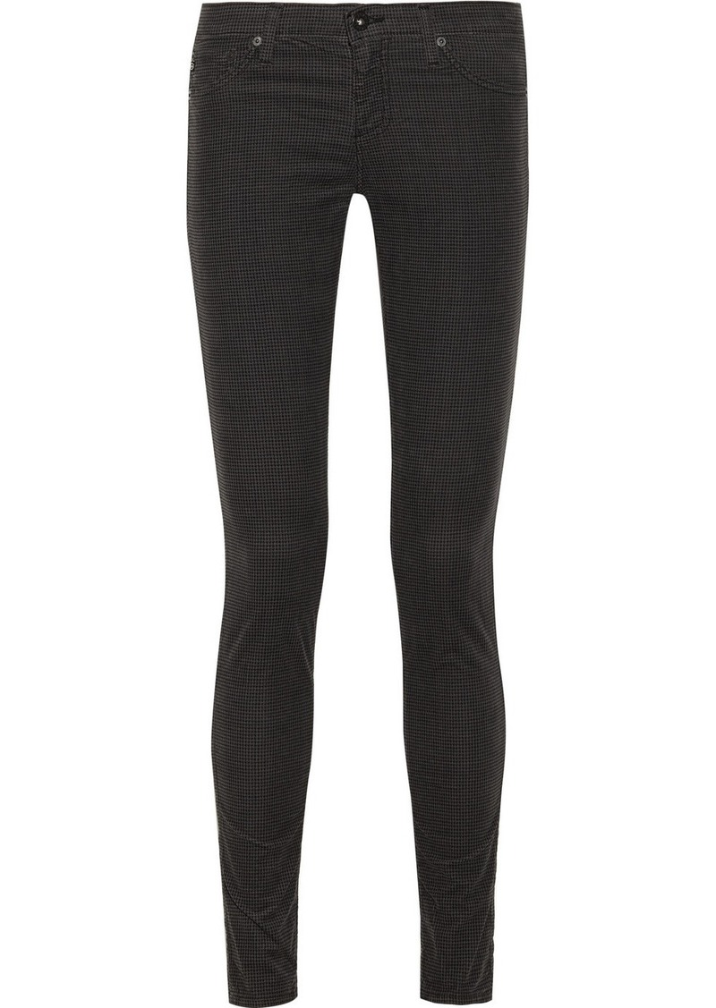 AG Jeans The Legging houndstooth-print stretch-corduroy jeans