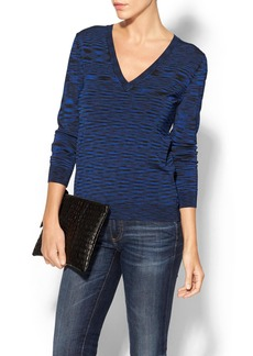 MICHAEL Michael Kors Space Dye V-Neck Sweater
