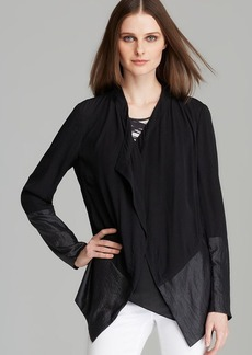 DKNY Pure Contrast Inset Drape Front Jacket