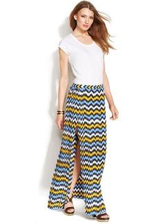 MICHAEL Michael Kors Petite Chevron-Print Maxi Skirt