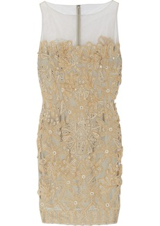 Valentino Embellished tulle dress