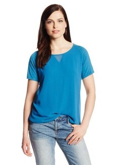 Calvin Klein Jeans Women's Transparent V-Inset Tee