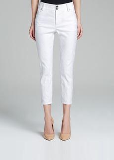 Alice + Olivia Jeans - Cropped Skinny in White