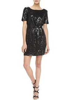 Ella Moss Claudia Short-Sleeve Sequined Dress