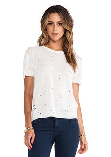 Central Park West Ponte Verdra Tee in Ivory