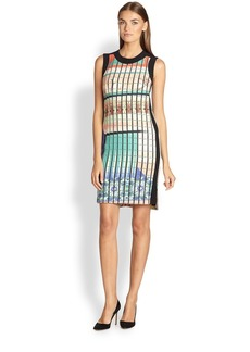 Etro Printed Pointelle Sheath Dress