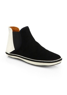 Marc Jacobs Suede Laceless High-Top Sneakers