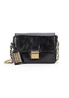 Badgley Mischka Violet Mini Leather Shoulder Bag