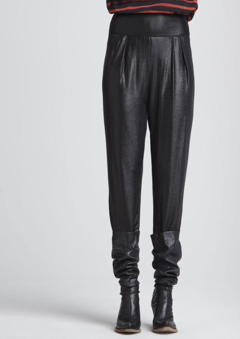 Jean Paul Gaultier Pleated Pants with Wide Waistband