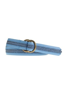 Braid-stripe leather belt