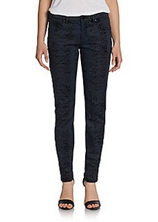 Elie Tahari Selena Snake-Print Jeans