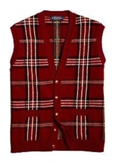 Saxxon® Wool Reserve Signature Tartan Button-Front Vest