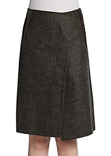 Jil Sander Asymmetric Wrap-Effect Alpaca-Blend Skirt