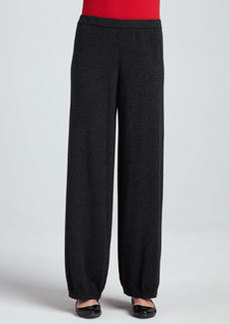 Joan Vass Silk-Cashmere Wide-Leg Pants