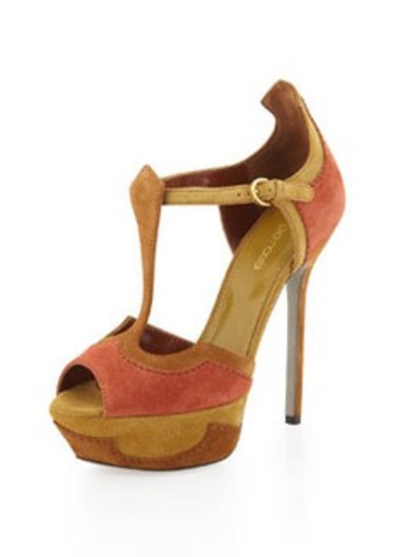 sergio rossi sergio rossi peep toe platform sandal dark orange sizes 5 5 shop it to me. Black Bedroom Furniture Sets. Home Design Ideas
