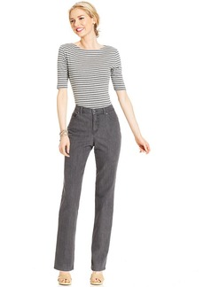 Charter Club Jeans, Tummy-Slimming Classic-Fit Straight-Leg, Slate Grey Wash