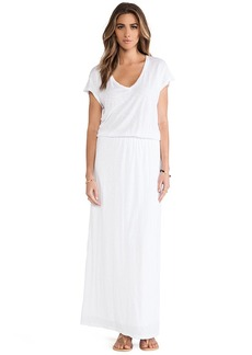 Velvet by Graham & Spencer Lizia Luxe Slub Maxi Dress in White