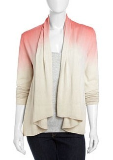 Lafayette 148 New York Dip-Dye Shawl-Collar Cardigan, Dragonfruit