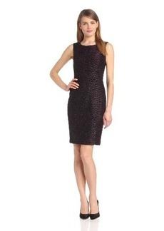 Elie Tahari Women's Estelle Sparkle Tweed Combo Sleeveless Sheath Dress