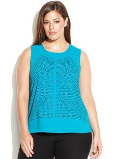 Calvin Klein Plus Size Sleeveless Studded Top