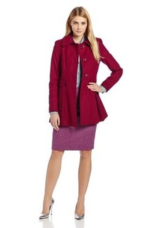 Kensie Women's Wool Skirted Coat