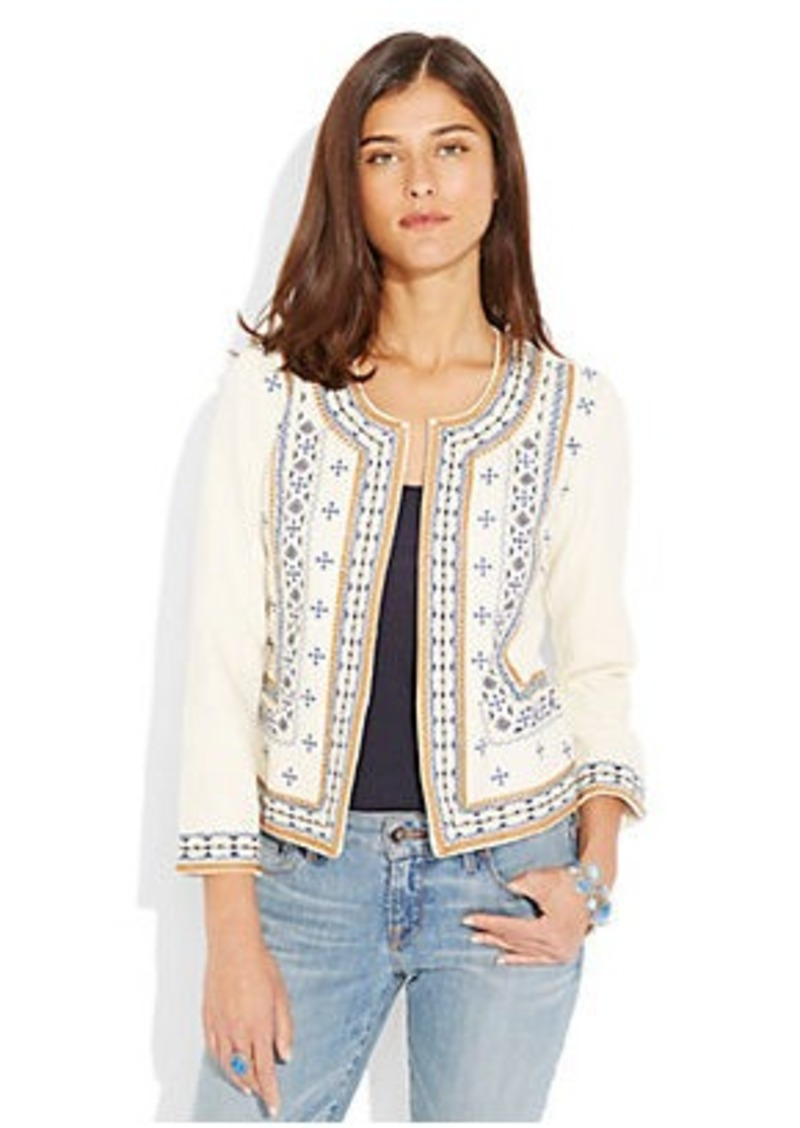 Lucky brand ethnic embroidered jacket outerwear shop