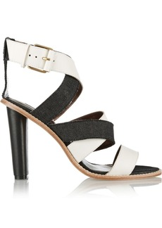 12th Street by Cynthia Vincent Alisa leather and denim sandals
