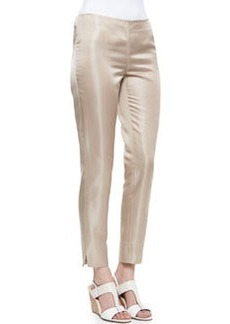 Lafayette 148 New York Metro Stretch Bleecker Cropped Pants, Raffia
