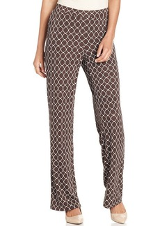 Charter Club Rich Wide-Leg Lattice-Print Soft Pants