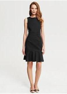 Sleek Suit Flounce Dress