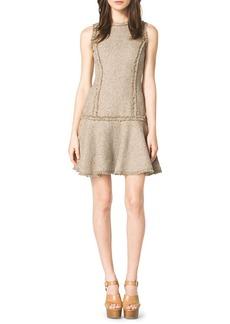 Michael Kors Drop-Skirt Tweed Dress