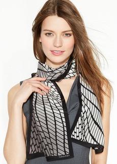 Calvin Klein Graphic Snake Silk Scarf