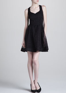 Zac Posen Organza Fit-and-Flare Dress