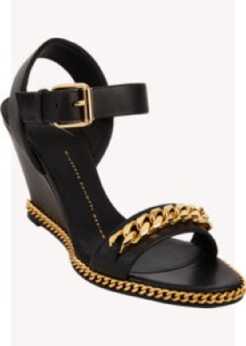 Giuseppe Zanotti Cuban Link Wedge Sandals