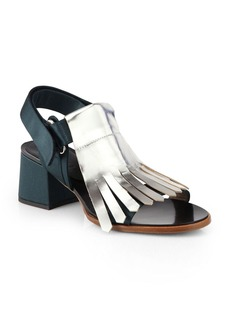 Marni Metallic Feinge Mid-Heel Sandals