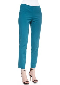 Lafayette 148 New York Bleecker Cropped Pants, Rainforest