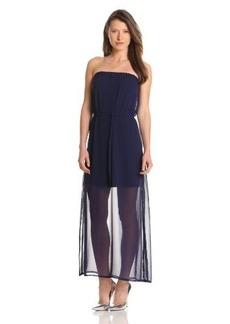 Design History Women's Chiffon Tube Maxi Dress