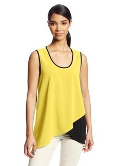 Calvin Klein Women's Layered Color-Block Top