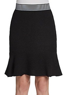 Saks Fifth Avenue BLACK Pebble Crepe Knit Skirt