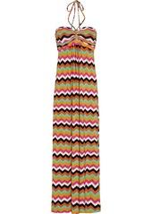 T-Bags Printed stretch-satin jersey maxi dress