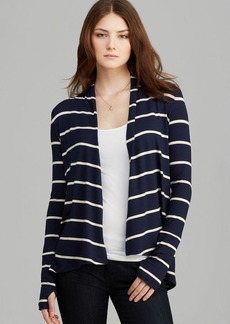 Three Dots Open Stripe Cardigan