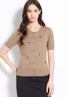 Embellished Short Sleeve Ann Cardigan
