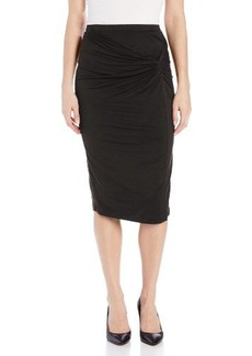 Three Dots Women's Twist Front Skirt