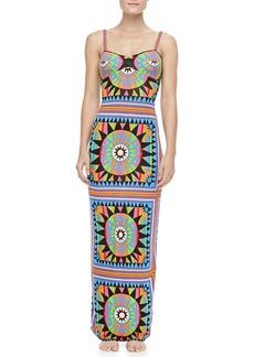 Mara Hoffman Strap-Back Column Coverup Maxi Dress