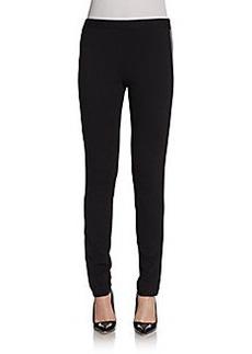 Saks Fifth Avenue BLACK Faux-Leather Paneled Leggings