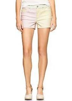 1969 colorblock maddie denim shorts